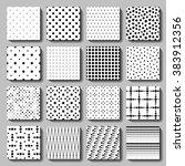 vector polka dot seamless... | Shutterstock .eps vector #383912356