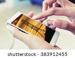 searching power saving data... | Shutterstock . vector #383912455