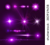 Lens Flare Set. Shining Collection. Vector illustration