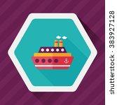 transportation ferry flat icon... | Shutterstock .eps vector #383927128