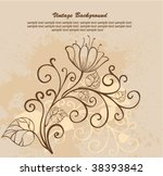 vintage background  with copy... | Shutterstock .eps vector #38393842