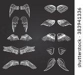 wings illustration silhouettes... | Shutterstock .eps vector #383941336