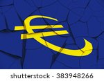 sign of euro currency on a... | Shutterstock . vector #383948266