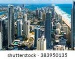 australia  gold coast  surfers... | Shutterstock . vector #383950135