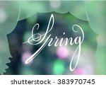 beautiful spring background.... | Shutterstock .eps vector #383970745