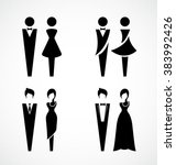male and female icon set vector ... | Shutterstock .eps vector #383992426