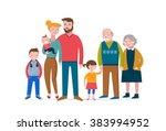happy family  making fun ... | Shutterstock .eps vector #383994952