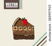 bakery icon design  | Shutterstock .eps vector #383997925