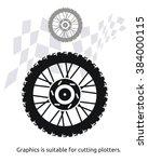 motorcycle wheel   Shutterstock .eps vector #384000115