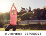 Sporty Senior Woman Outdoors O...