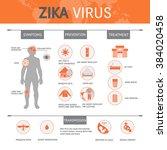 zika virus infographic with... | Shutterstock .eps vector #384020458