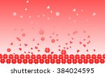 abstract  red flowers | Shutterstock .eps vector #384024595