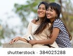 lesbian couple | Shutterstock . vector #384025288