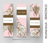beautiful banner vector... | Shutterstock .eps vector #384025612