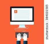 blog  copywriting. flat design... | Shutterstock .eps vector #384031585