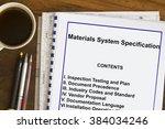 materials system specification... | Shutterstock . vector #384034246