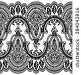 seamless lace pattern  flower... | Shutterstock .eps vector #384043816