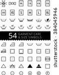 laundry care symbols. set of... | Shutterstock .eps vector #384045946