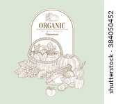 organic  hand drawn vector... | Shutterstock .eps vector #384050452