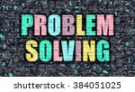 problem solving concept.... | Shutterstock . vector #384051025