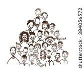 people face sketch portrait...   Shutterstock .eps vector #384056572