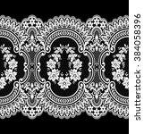 seamless lace pattern  flower... | Shutterstock .eps vector #384058396