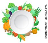 vector set of delicious... | Shutterstock .eps vector #384066196