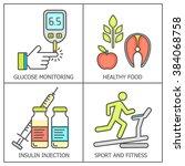diabetes vector background. ... | Shutterstock .eps vector #384068758