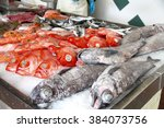 Fresh Fishes Seafood Backgroun...