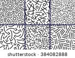 abstract seamless patterns with ... | Shutterstock .eps vector #384082888