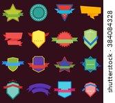 vector badge flat modern style... | Shutterstock .eps vector #384084328