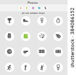 basketball  vector icons for... | Shutterstock .eps vector #384086152