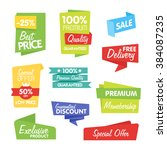 special offer sale tag discount ... | Shutterstock .eps vector #384087235