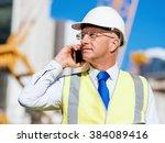 engineer builder at... | Shutterstock . vector #384089416