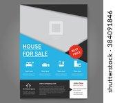 real estate broker flyer and... | Shutterstock .eps vector #384091846