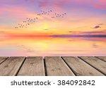 pink sunset | Shutterstock . vector #384092842