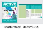 layout magazine with cover ... | Shutterstock .eps vector #384098215