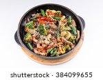 steamed vegetables potatoes ... | Shutterstock . vector #384099655