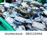 Blue Sea Crabs Caught By Local...