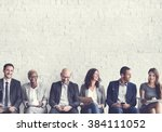 human resources interview... | Shutterstock . vector #384111052