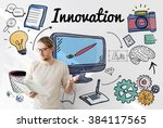 innovation futurism creative... | Shutterstock . vector #384117565