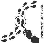 detective inspecting or... | Shutterstock .eps vector #384119908