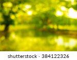 park bokeh background | Shutterstock . vector #384122326
