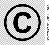 copyright sign. flat style icon ... | Shutterstock . vector #384122566