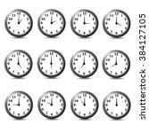 vector illustration clock on... | Shutterstock .eps vector #384127105