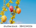 Beautiful Easter Eggs Hanging...