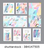 set of creative universal cards.... | Shutterstock .eps vector #384147505