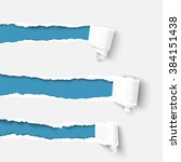 three white torn paper rolls... | Shutterstock .eps vector #384151438