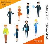 modern business people flat... | Shutterstock .eps vector #384154042