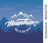 true in the wild  motivational... | Shutterstock .eps vector #384162742